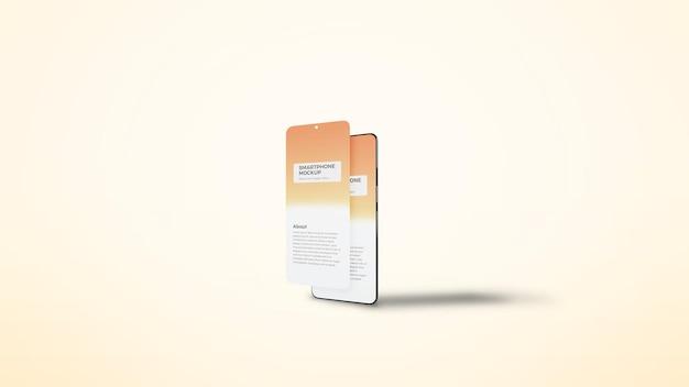 Maquete de apresentação da tela principal do aplicativo para smartphone
