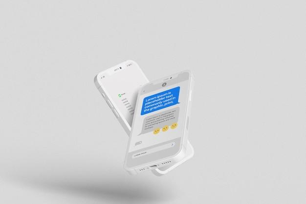 Maquete de apresentação de aplicativo de tela e telefone