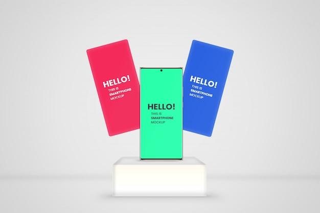 Maquete de apresentação de aplicativo para smartphone