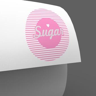 Maquete de apresentação de logotipo de página ondulada simples e limpa