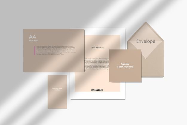 Maquete de apresentação de papel