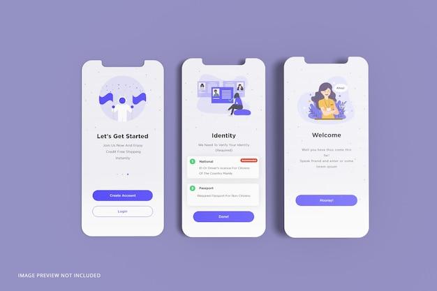 Maquete de apresentação do aplicativo de tela do telefone Psd Premium