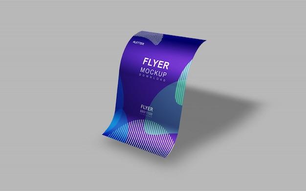 Maquete de apresentação elegante e bonito flyer simples