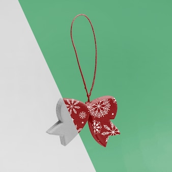 Maquete de arco de natal ornamental