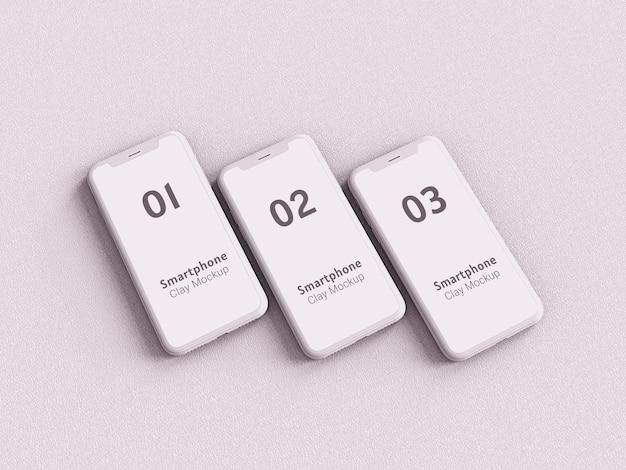 Maquete de argila de dispositivos multimídia