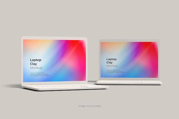 Maquete de argila para laptop