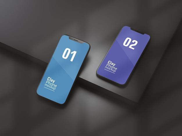 Maquete de argila para smartphone ou dispositivo multimídia Psd Premium