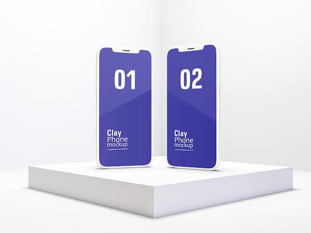 Maquete de argila para smartphones ou dispositivos multimídia