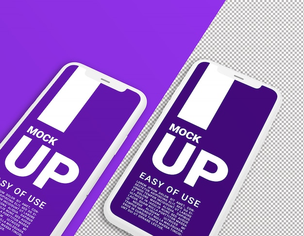 Maquete de argila smartphone. modelo