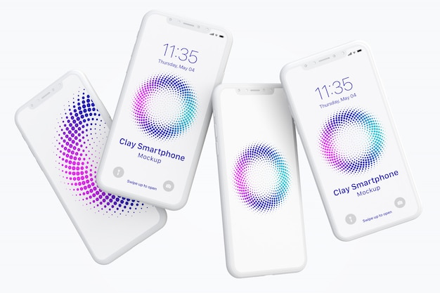 Maquete de argila smartphone