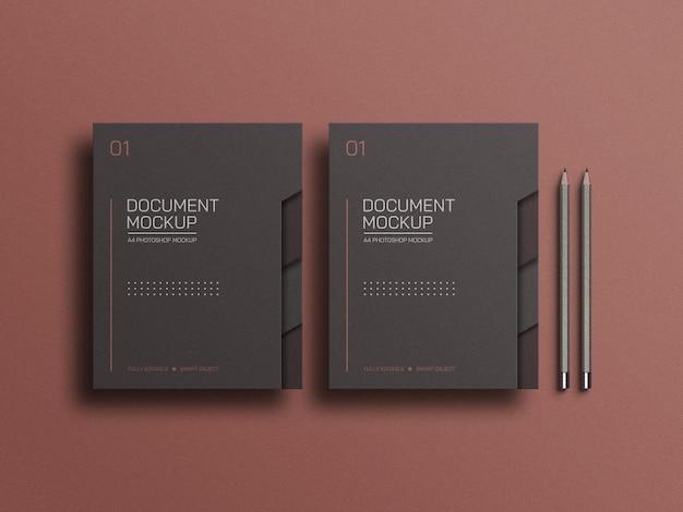 Maquete de arquivo de documento a4