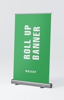 Maquete de arregaçar carrinho de banner