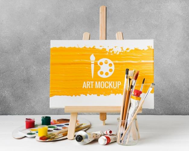 Maquete de arte com aquarela