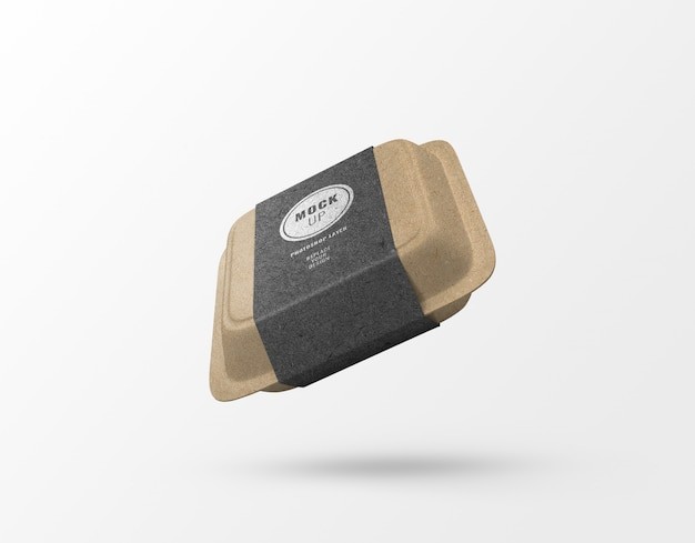 Maquete de artesanato de papel caixa de comida