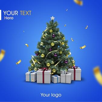 Maquete de árvore de natal 3d