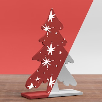 Maquete de árvore de natal decorada