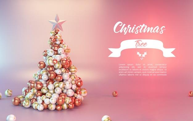 Maquete de árvore de natal elegante