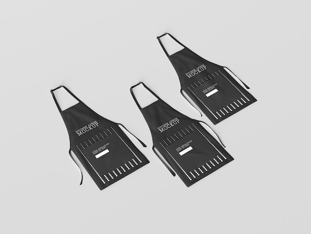 Maquete de aventais de chef