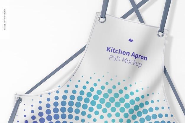 Maquete de avental de cozinha, close-up