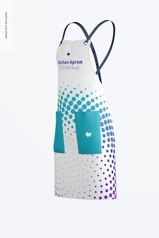 Maquete de avental de cozinha, vista lateral direita