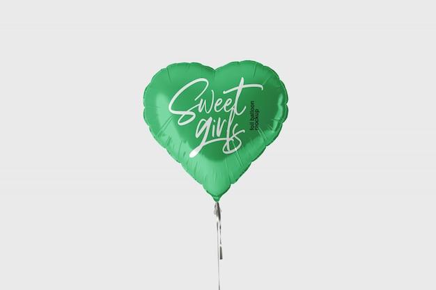 Maquete de balão de folha
