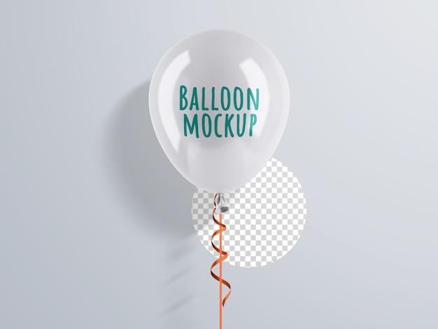 Maquete de balão de hélio com fita