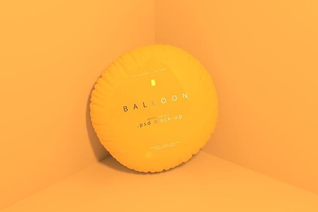 Maquete de balão laranja