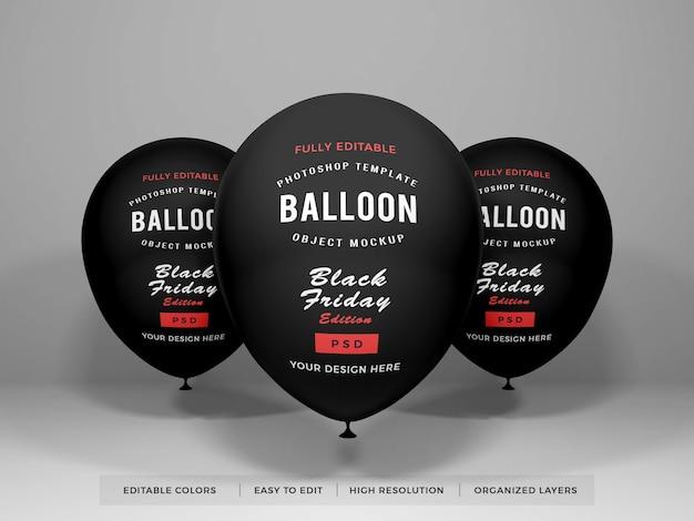 Maquete de balão realista
