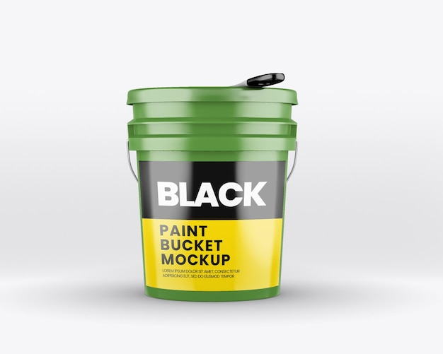 Maquete de balde de tinta fosca