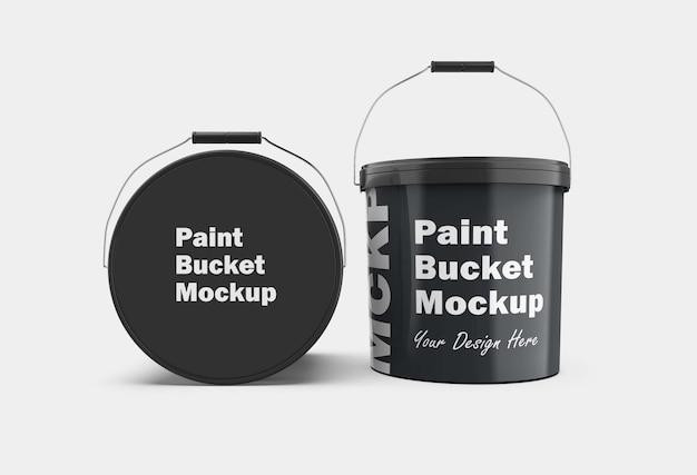 Maquete de balde de tinta