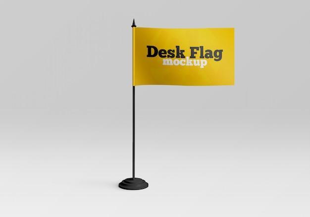 Maquete de bandeira de mesa