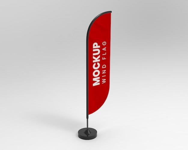 Maquete de bandeira de vento