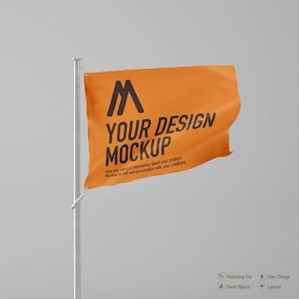 Maquete de bandeira isolada em fundo branco