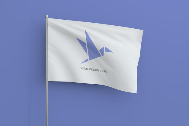Maquete de bandeira ondulante