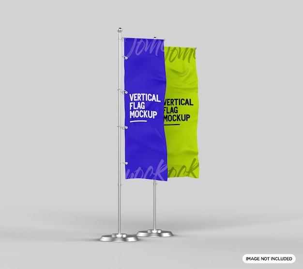 Maquete de bandeira vertical