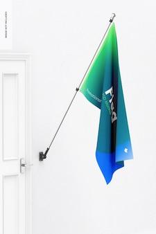 Maquete de bandeira, vista esquerda