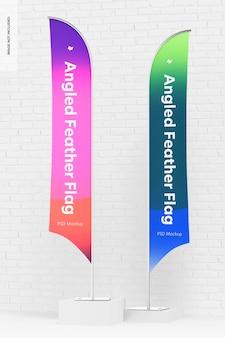 Maquete de bandeiras de penas angulares