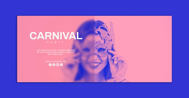 Maquete de banner de carnaval