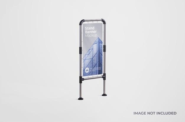 Maquete de banner de estande ao ar livre