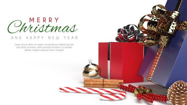 Maquete de banner de feliz natal