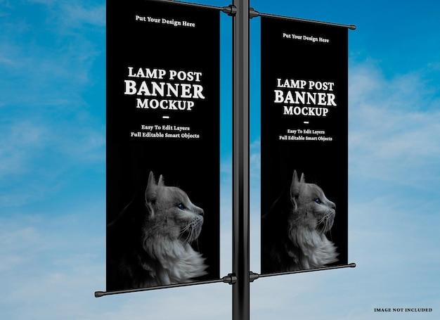 Maquete de banner de lâmpada publicitária