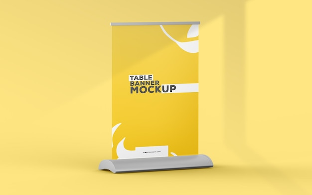 Maquete de banner de mesa