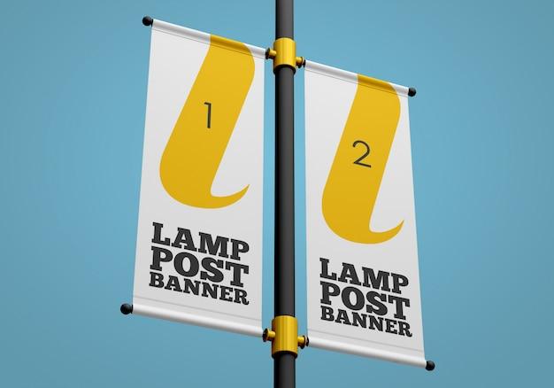 Maquete de banner de poste de luz