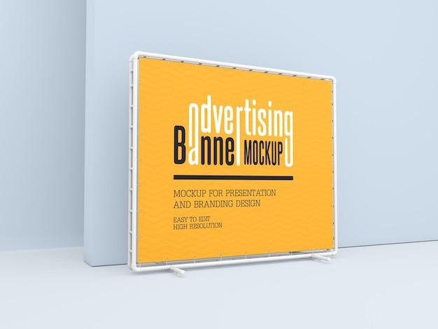 Maquete de banner de publicidade
