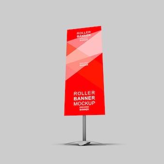 Maquete de banner de rollup 3d