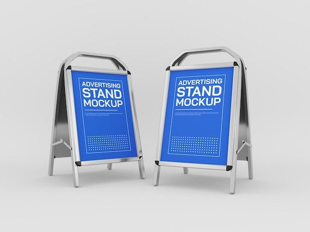 Maquete de banner de stand de publicidade