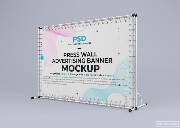 Maquete de banner de suporte de parede para exposição