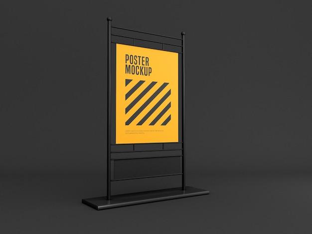 Maquete de banner de suporte vertical