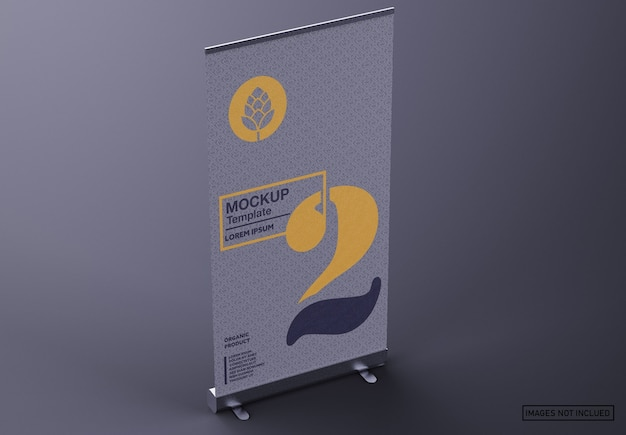 Maquete de banner matte roll-up