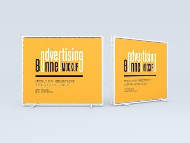 Maquete de banner publicitário